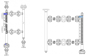 Dual Level Gauges with Isolation Valves