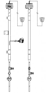 Skin temperature measurement on a radar bridle chamber