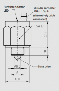 Optical level switch