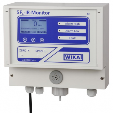 SF6 gas emissions monitor