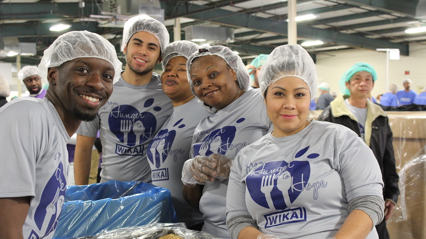 WIKA employees volunteer their time