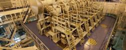 Industrial ship engine room