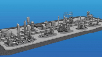 Graphic depicting an overview of a typical refinery