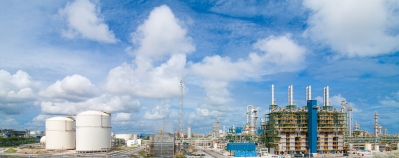 Panoramic View of a Polyethylene plant.