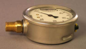 NPT connection in a pressure gauge