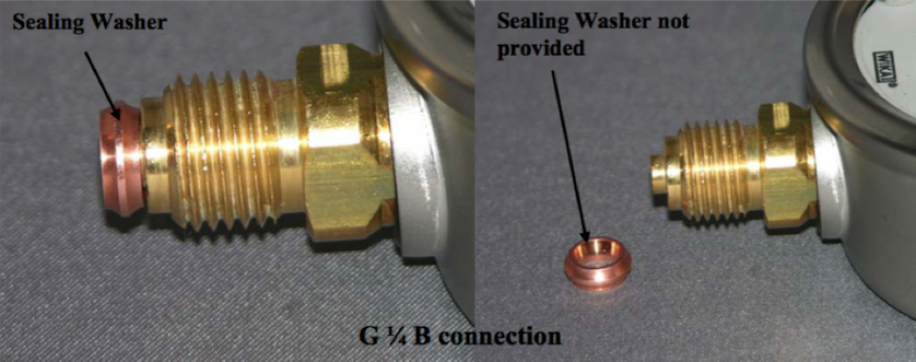 Sealing Washer for Pressure Gauges