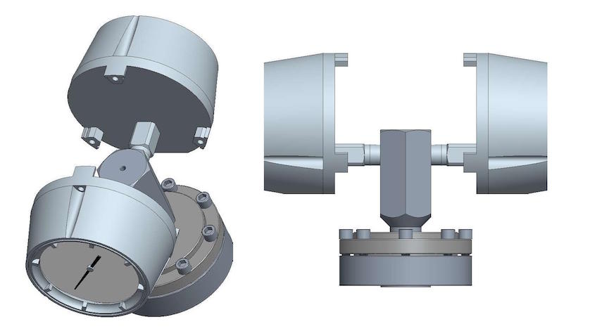 Two-sided diaphragm seal assembly