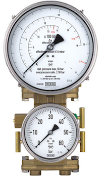 Differential pressure gauge + working pressure gauge