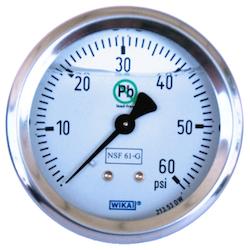 Lead-free pressure gauge