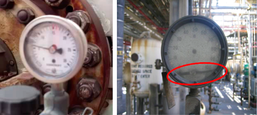 Effects of mechanical vibration on pressure gauge