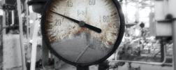 Broken pressure gauge