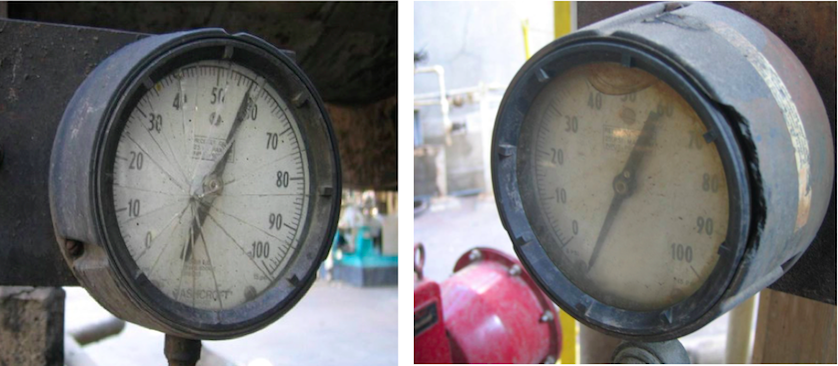 Effects of mishandling and abuse on a pressure gauge