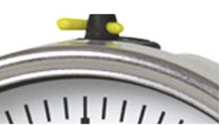 Pressure gauge vent